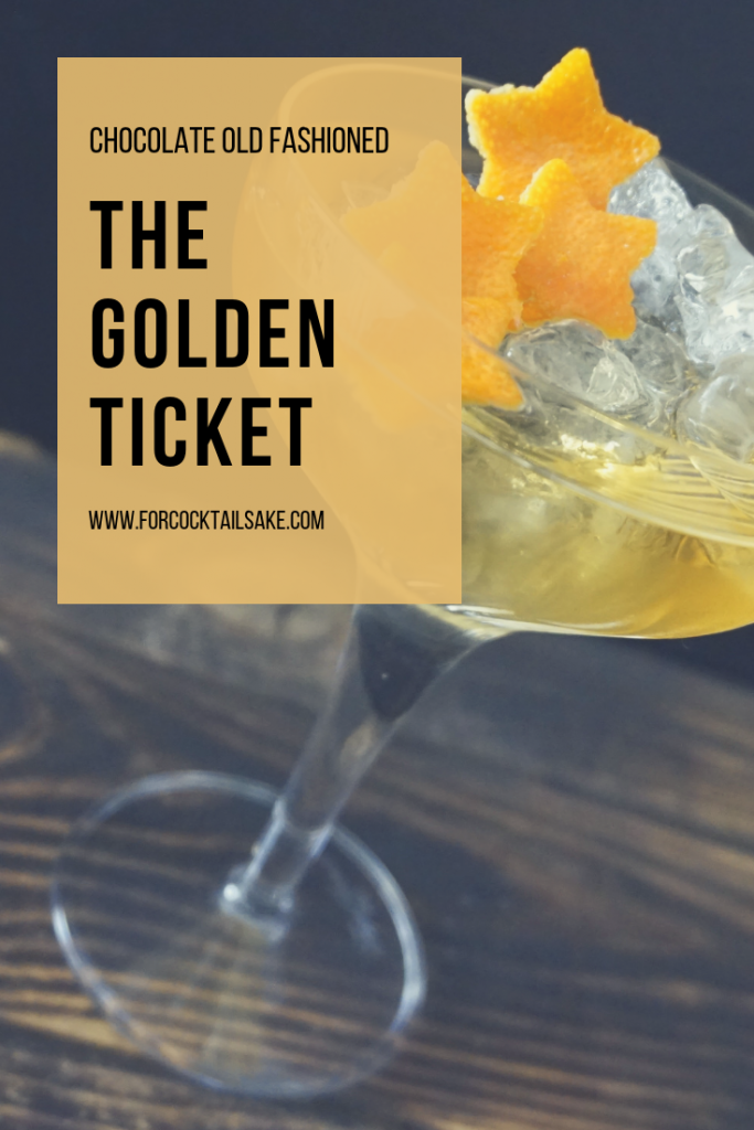 The Golden Ticket Chocolate Old fashioned drink